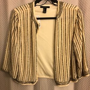 Forever 21 beaded jacket size s